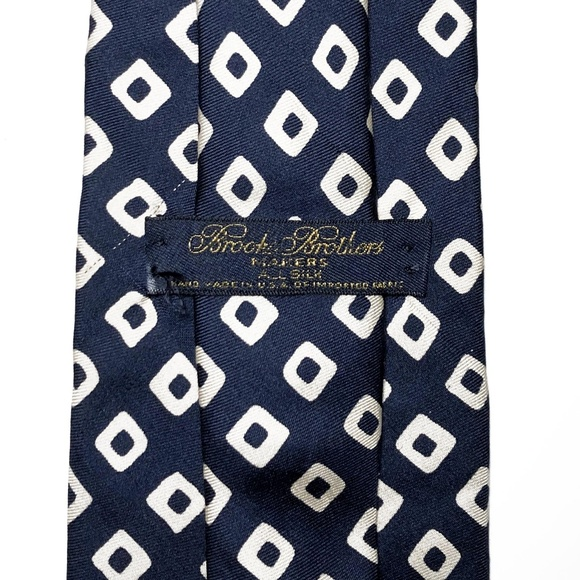 Brooks Brothers Other - Brooks Brothers Makers All Silk Geometric Navy Tie